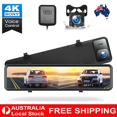 AU191.99 • Buy TOGUARD 4K Mirror Dual Dash Cam GPS Front Rearview Recorder 12  Car DVR Camera