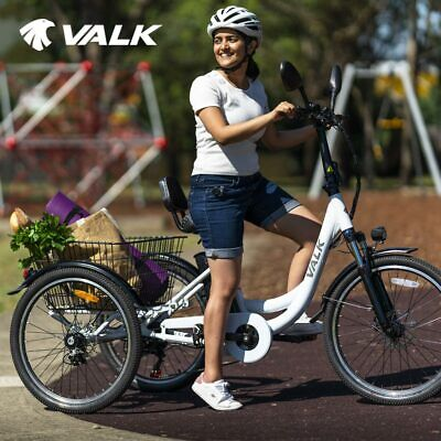 AU1229 • Buy VALK Electric Tricycle Battery Motorised Three 3 Wheel Cargo Adults