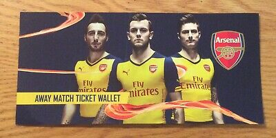 £1 • Buy Arsenal Football Club Away Match Ticket Wallet From The 2014-2015 Season
