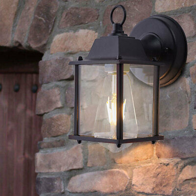 Wall Mounted Garden Porch Light Outdoor Indoor Lantern Lamp With Bulb Fittings • 31.14£