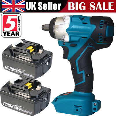 """£41.85 • Buy 1/2"""" Impact Wrench Brushless Cordless Replacement For DTW285Z Makita 2xBatteries"""
