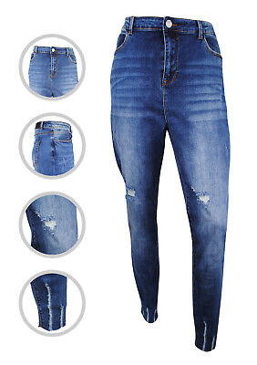 Womens Simply Be Chloe Denim Skinny Jeans Ripped Distressed Plus Size 18 To 22 • 14.97£