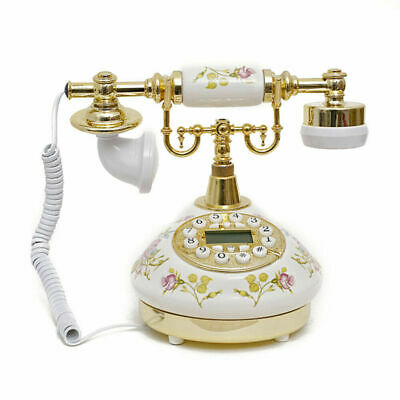 Working Replica Vintage Telephone Antique Art Decor Corded Desk Land Line Phone  • 25.90£