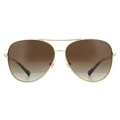Ralph By Ralph Lauren Sunglasses RA4125 911613 Gold Matte Gold Brown Gradient • 59£