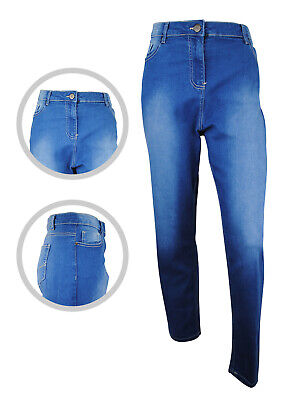 Womens Simply Be Lexi High Waist Denim Slim Jeans Light Blue Plus Size 18 20 22 • 12.97£