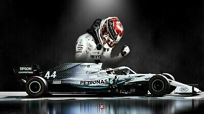 £19.99 • Buy Lewis Hamilton F1 Legend GOAT 30x20 Inch Canvas - Framed And READY TO HANG
