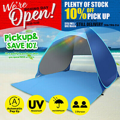 AU29.99 • Buy Pop Up Outdoor Camping Beach Tent Sun Shade Portable UV Shelter