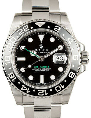 $ CDN14204.26 • Buy Rolex GMT-Master II Steel Ceramic Black/Green 40mm Watch 116710