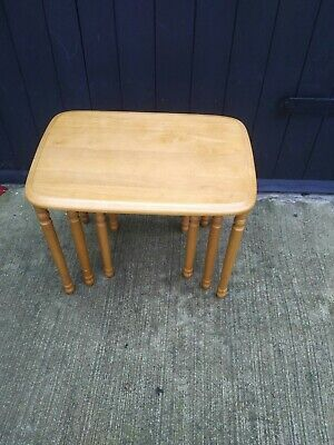 £25 • Buy Modern Pine Style Nest Of Three Tables.Preowned Items.