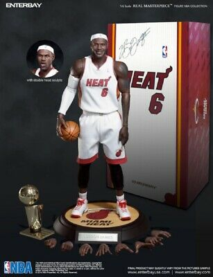 $1199 • Buy NBA Hot Enterbay Lebron James Masterpiece Action Figure Miami Heat Statue Toys
