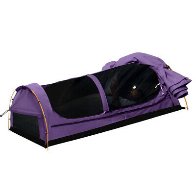 AU169.99 • Buy Mountview Double King Single Swag Camping Swags Canvas Dome Tent Hiking Purple