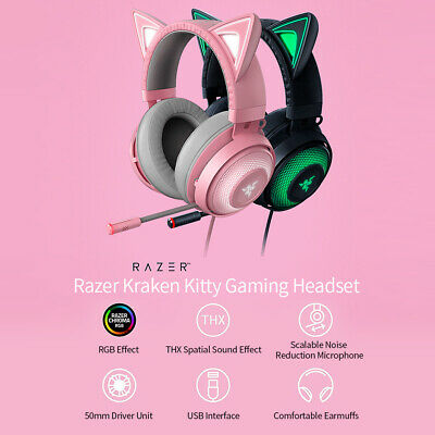 AU83.99 • Buy Razer Wired Gaming Keyboard Gaming Mouse Backlit Kitty Headset AU