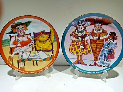 £7.18 • Buy PlateS Danbury Mint Cat Lovers Codependents  Family SET LOT  OF 2 PLATES