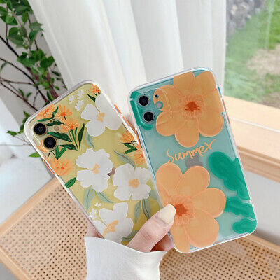 AU11.52 • Buy Cute Case For IPhone 12 Pro Max/12 Mini 11 Pro XS MAX 8 +Summer Flower TPU Soft