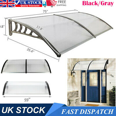 £62.95 • Buy Door Window Canopy Awning Shelter Front Back Outdoor Porch Patio Roof Rain Cover