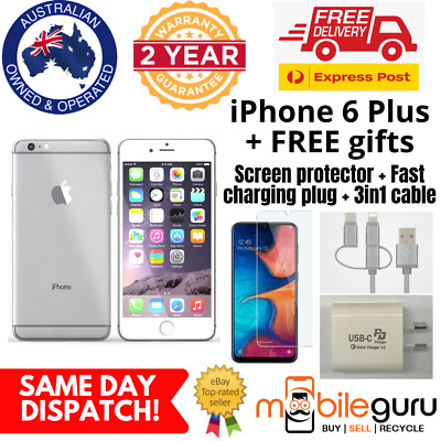 AU299 • Buy Apple IPhone 6 Plus 64GB Silver MINT Unlocked Genuine AU Stock Smartphone