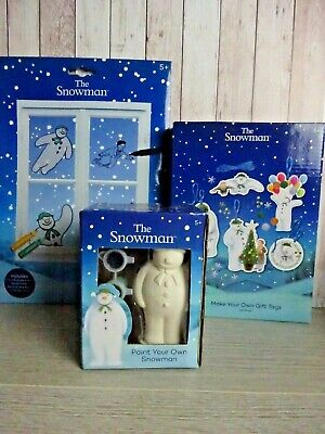 The Snowman - Childrens Craft - Kits X 3 - Stocking - Christmas Crafts • 5.99£