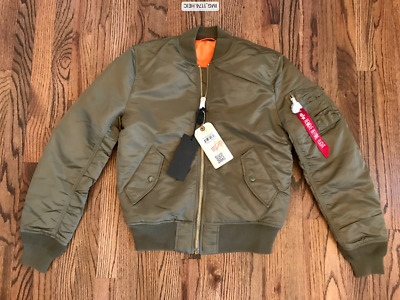 $93.99 • Buy 58 Alpha Industries MA-1 Insulated Bomber Jacket Olive Slim Fit Mens Sz S M L