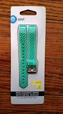 AU7.74 • Buy ONN Replacement Band With Metal Buckle For Fitbit Alta Green & White