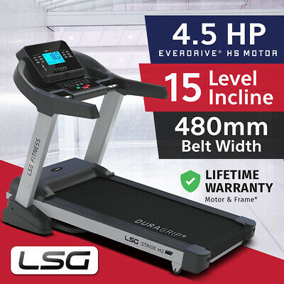 AU899 • Buy NEW LSG Wide 480mm Belt Electric Treadmill 4.5 HP H5 Motor Home Gym Fitness