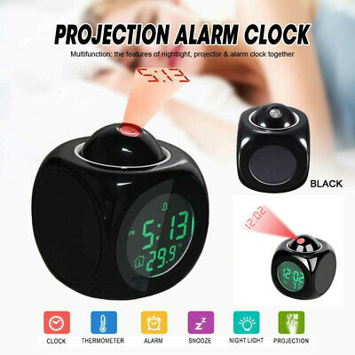 AU12.25 • Buy Smart Alarm Clock Digital LED Projection Time Temperature Projector LCD Display