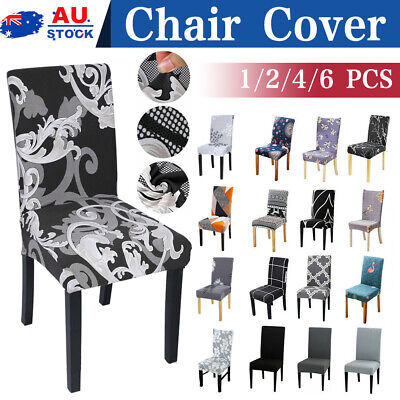 AU29 • Buy Stretch Dining Chair Covers Removable Washable Slipcover Banquet 4/6/8 PCS AU