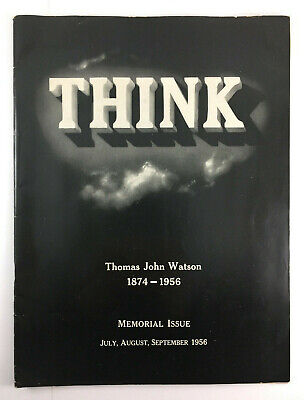 Vintage IBM THINK Magazine Watson Memorial Issue 3rd Quarter 1956 • 10.73£