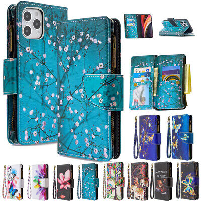AU18.89 • Buy For IPhone 13 12Pro Max XR 6 7 8+ Pattern Leather Zipper Wallet Purse Case Cover