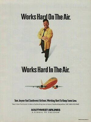 $16.99 • Buy 2000 Southwest Airlines Tom Joyner Airplane Plane Photo Vintage Color Print Ad