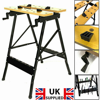 £19.45 • Buy DIY Work Bench Table Portable Folding Workbench Workmate With Clamping Vice