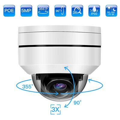 5MP IP POE Camera 3X Optical Zoom CCTV Security Camcorder Video Recorder Dome • 100.13£