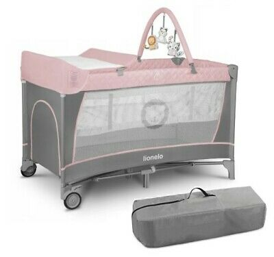 AU135.23 • Buy Baby Travel Bed Flower Flamingo Toddler Kids Cot Changing Accessories Lionelo