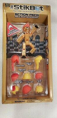 STIKBOT ACTION PACK ROLE PLAY ACCESSORY  Orange Yellow   Hair Styling Zing Hats • 7.12£