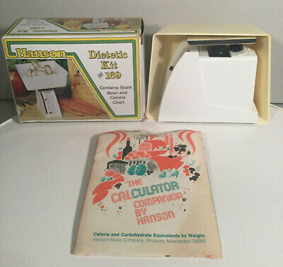 Hanson Dietetic Kit #169 In Box Contains Scale Bowl And Calorie Chart VintageNOS • 18.24£