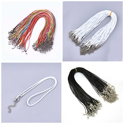 £3.25 • Buy 10 Ready Made Waxed Cotton Cord Necklace Thongs Soft Shiny Imitation Leather 17