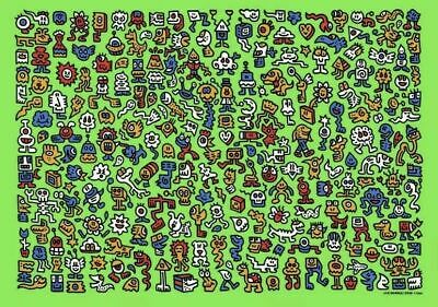 $1989.99 • Buy Mr Doodle  Alien Town  Limited Edition Screen Print X/300 🔥In-Hand🔥SOLD OUT🔥