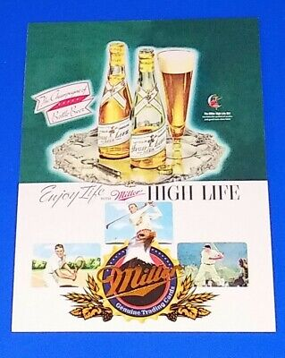 $2.50 • Buy 1995 Miller Genuine Beer Collector Card #22 A Company History