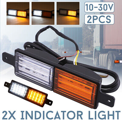 AU29.87 • Buy 2X Front Tail 30 LED Indicator Park Lights Lamp Rectangle For Truck Ute Trailer