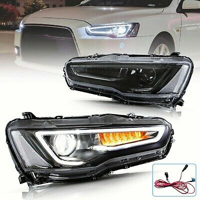 AU569.99 • Buy LED DRL Projector Head Lights For 08-17  Mitsubishi Lancer EVO With Sequential