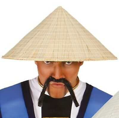 Mens Ladies Vietnamese Straw Hat Chinese Japanese Fancy Dress Costume Accessory • 7.99£