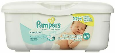 £11.99 • Buy Pampers Baby Wipes Tub Sensitive With Touch Of Milk Essentials - 64
