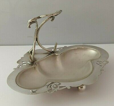 £18 • Buy Art Nouveau Silver Plated Dish With Glass Liner