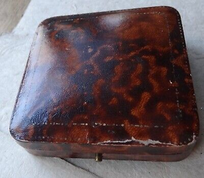 Antique Edwardian Art Deco Large Velvet Lined Jewellery Box For Brooch Pin -X141 • 45£