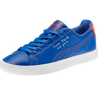 Puma Rare Clyde Sneakers NYC Knicks Color Way Blue/orange 372310-01 Mens Sz 8 • 78.50£