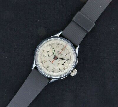 $ CDN453.45 • Buy Vintage Delbana Chronograph Wind Men's Military Style Watch Landeron 48 Runs