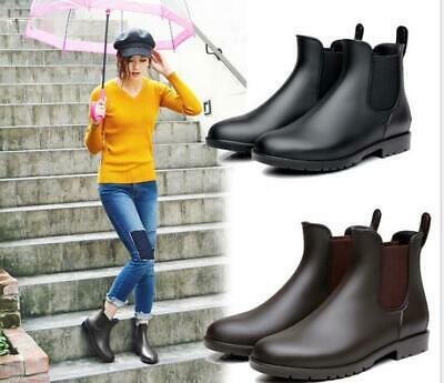 AU35.99 • Buy Women Rain Boots Waterproof Chelsea Wellies Ladies Rubber Ankle Short Gum Boots