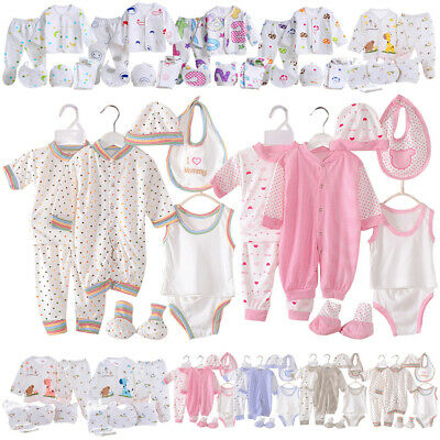 5/7/8pcs Newborn Unisex Baby Clothes Outfits Layette Sets Animals Printed 0-3M • 8.81£
