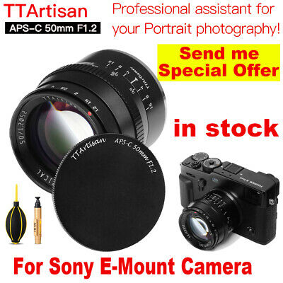 AU122.77 • Buy TTArtisans 50mm F1.2 APS-C Lens For For Sony E Mount A5000 A5500 A6000 A6300
