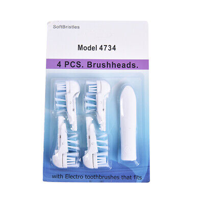 AU4.30 • Buy 4x Toothbrush Heads For Oral-B Cross Action Power Dual Clean Brush Replace TOBS