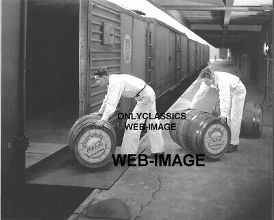£9.15 • Buy 1950's COCA-COLA FOUNTAIN SYRUP BARREL BEING LOADED ON RAILROAD TRAIN 8X10 PHOTO